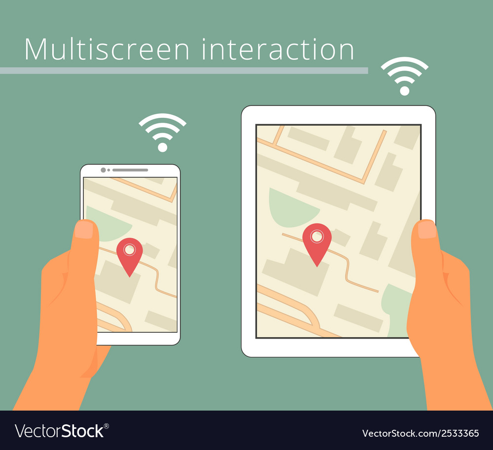Multiscreen interaction synchronization of vector | Price: 1 Credit (USD $1)