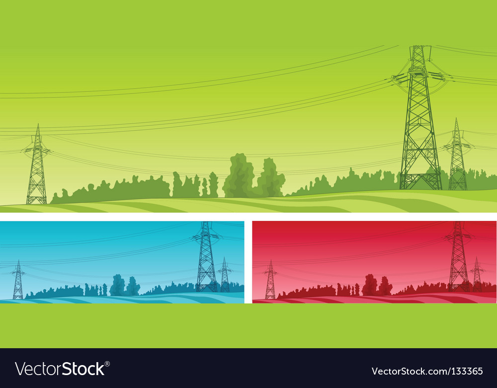Power line vector | Price: 1 Credit (USD $1)