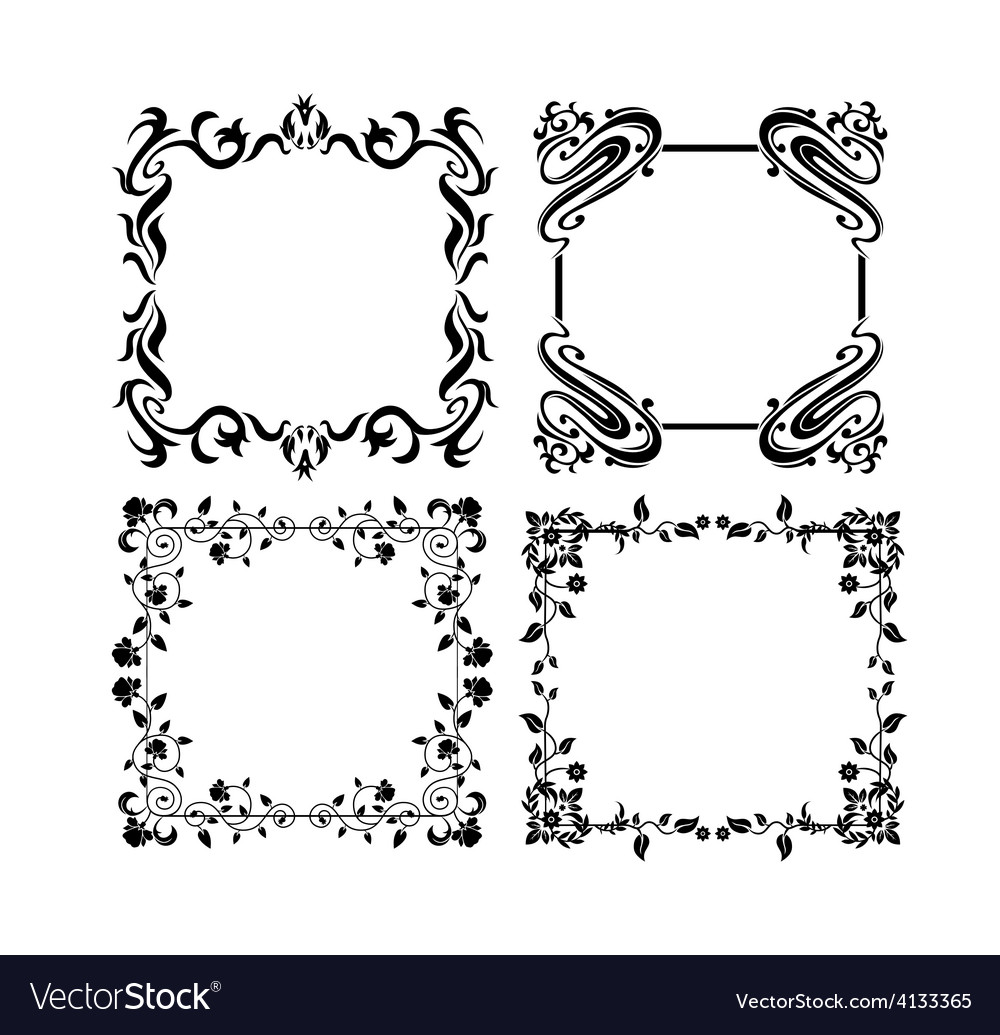Vintage frames 4 vector | Price: 1 Credit (USD $1)