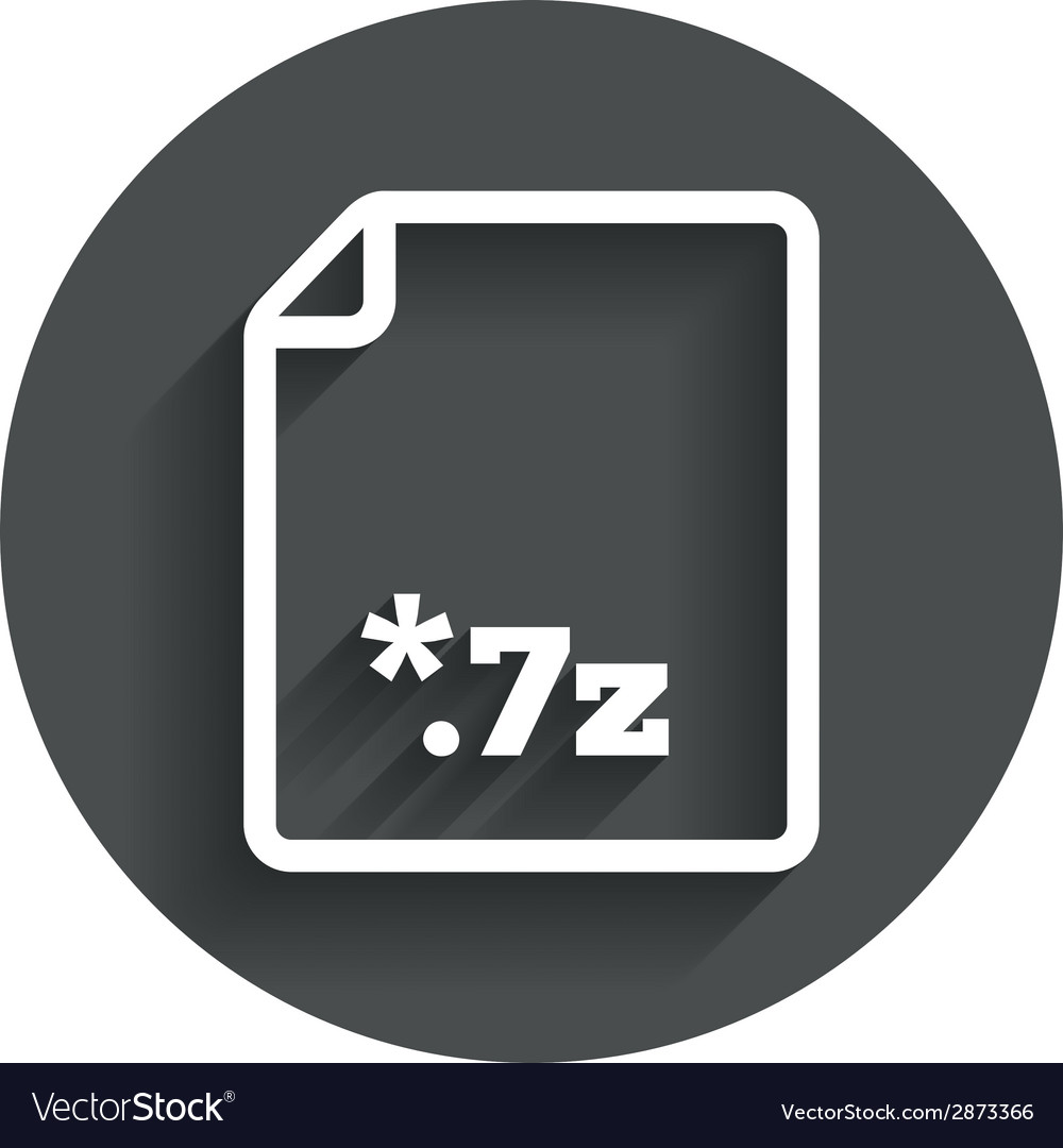 Archive file icon download 7z button vector | Price: 1 Credit (USD $1)