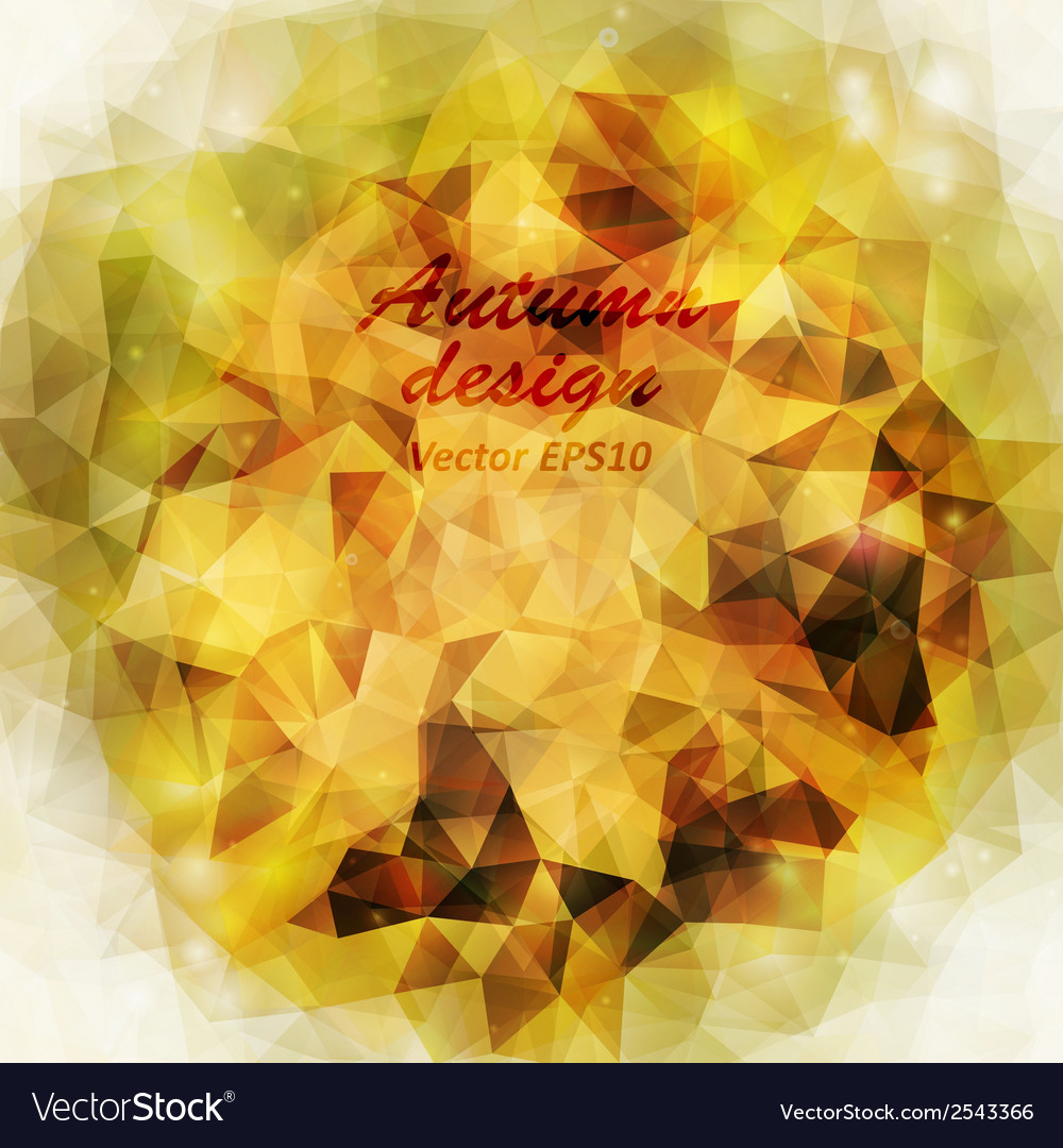 Autumn background triangle design vector | Price: 1 Credit (USD $1)
