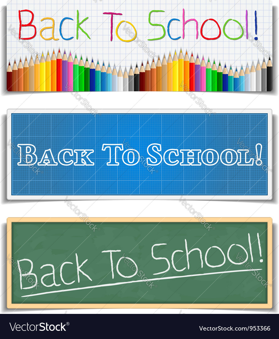 Back to school banners vector | Price: 3 Credit (USD $3)