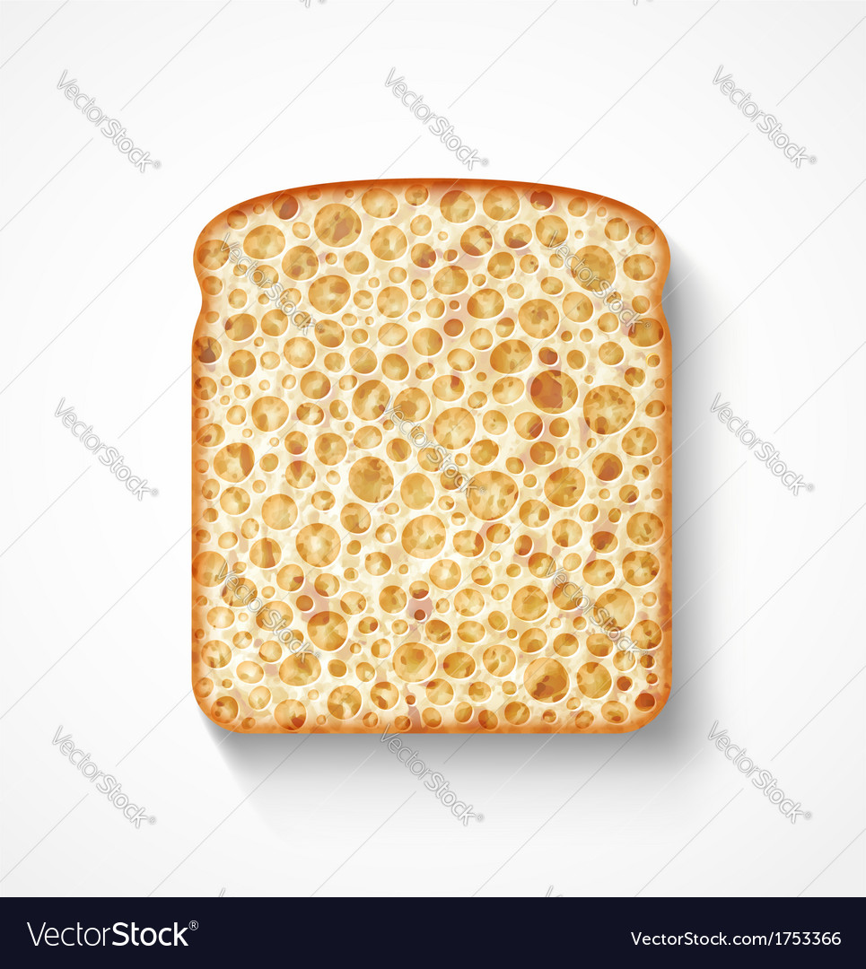 Bread slice vector | Price: 1 Credit (USD $1)