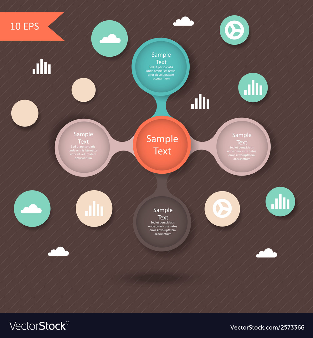 Colorful round diagram metaball infographics vector | Price: 1 Credit (USD $1)