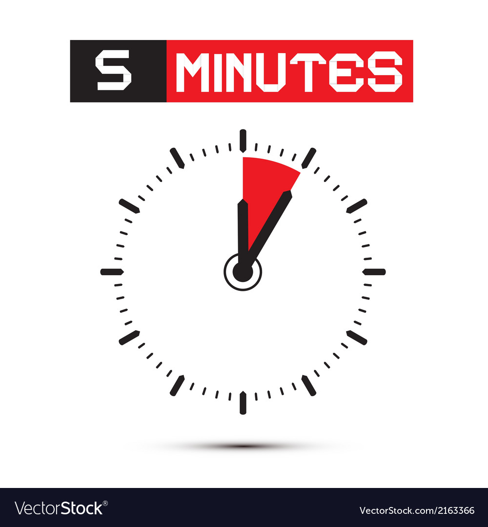 Five minutes stop watch - clock vector | Price: 1 Credit (USD $1)