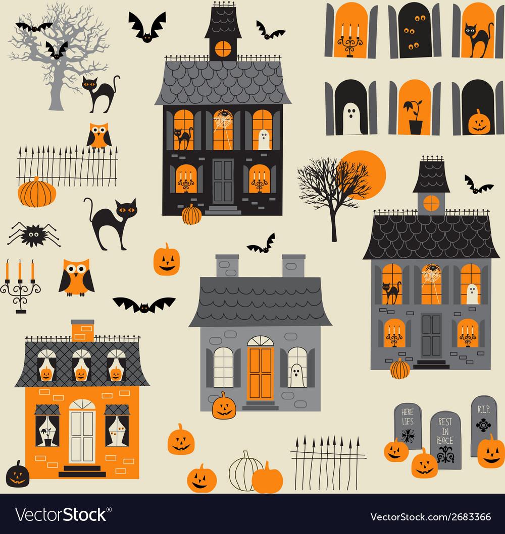 Halloween motifs vector | Price: 1 Credit (USD $1)