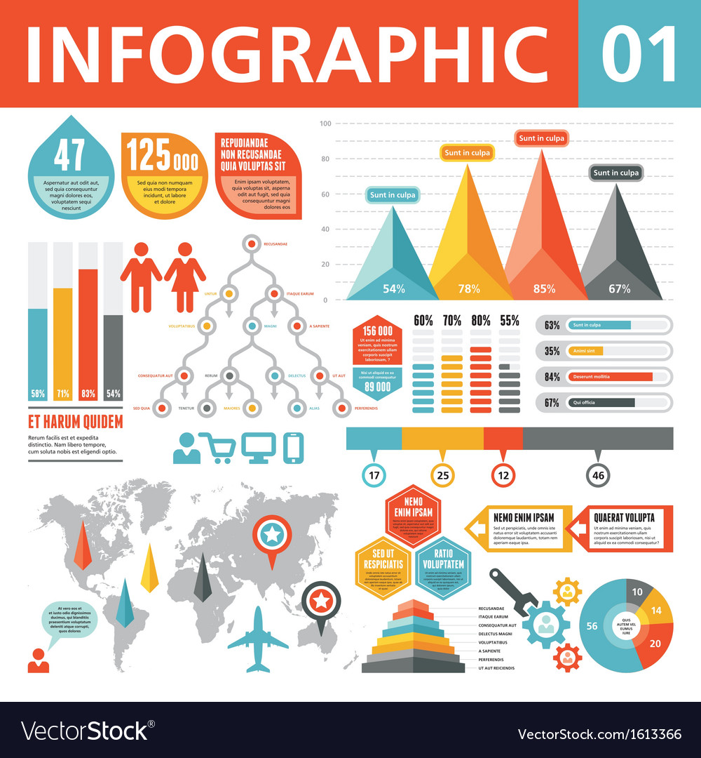 Infographic elements 01 vector