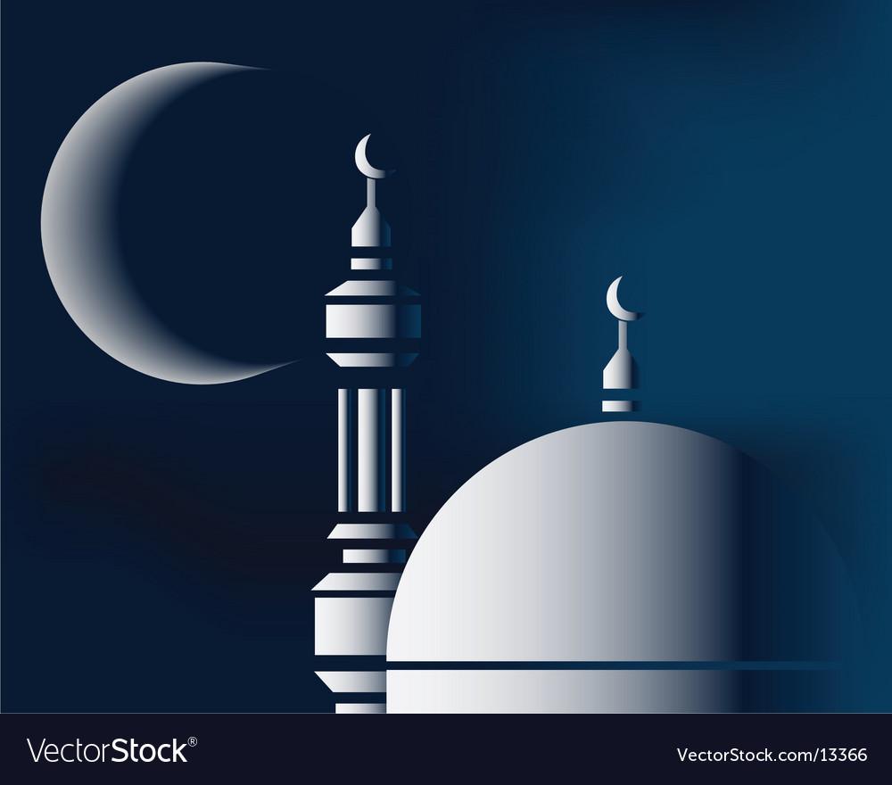 Islamic city scape vector | Price: 1 Credit (USD $1)
