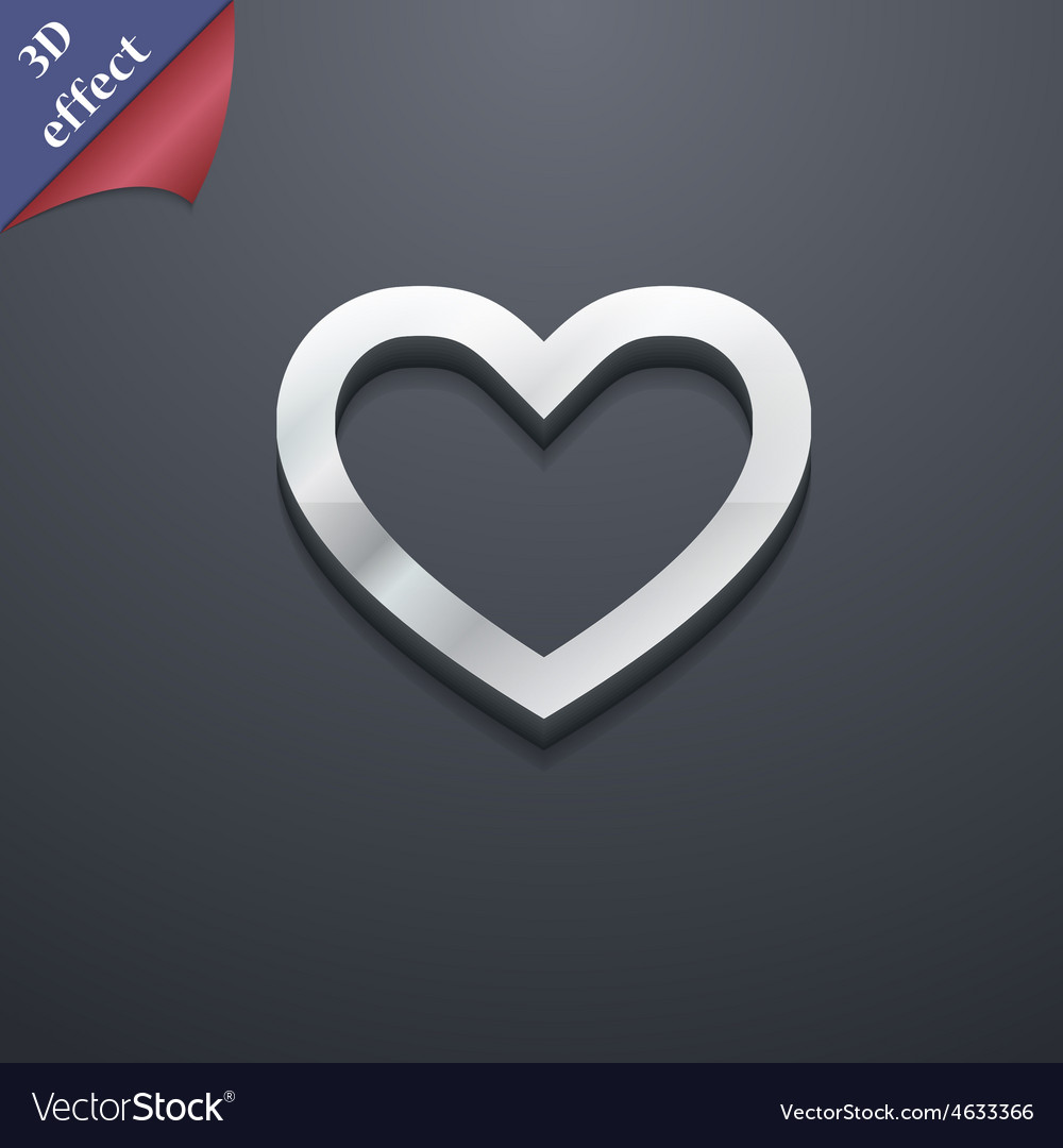 Medical heart love icon symbol 3d style trendy vector | Price: 1 Credit (USD $1)