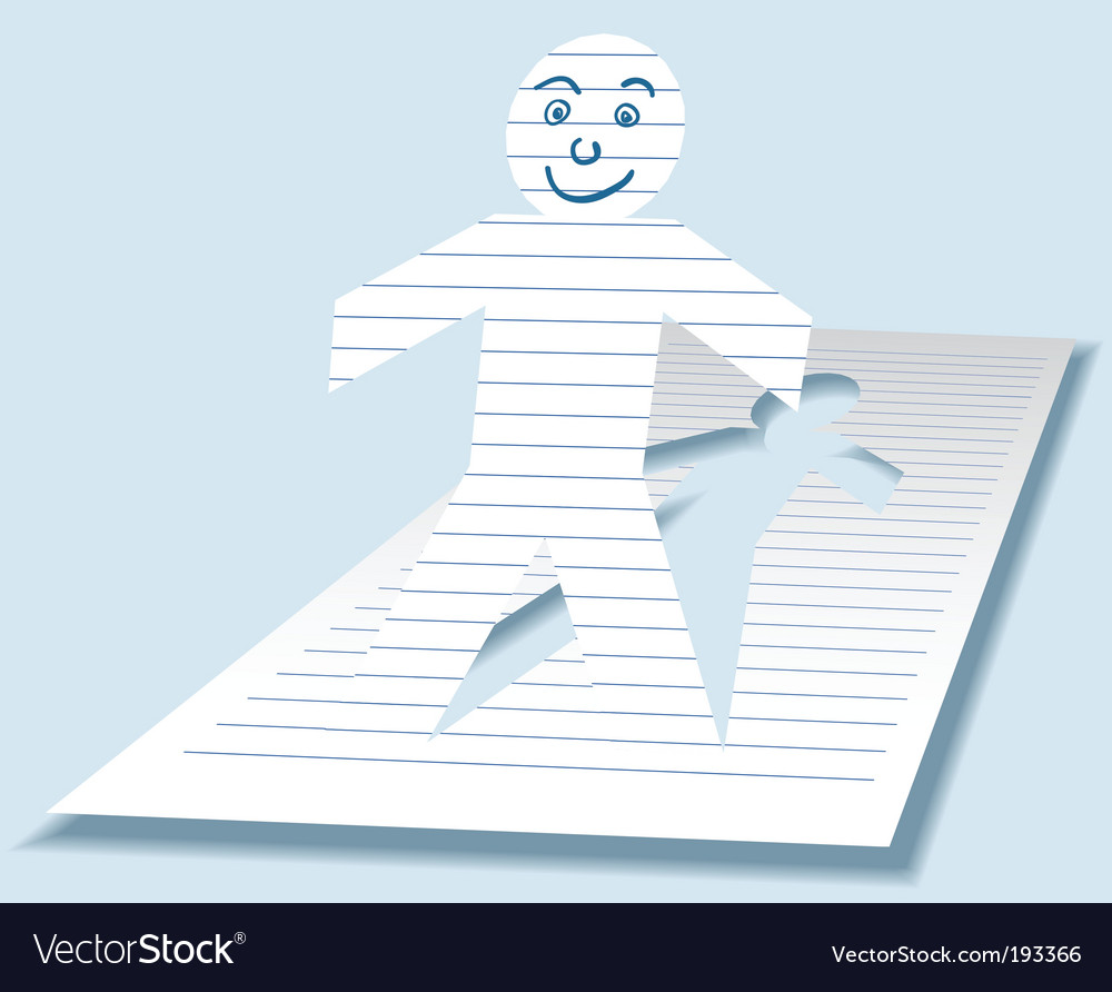 Paper man vector | Price: 1 Credit (USD $1)