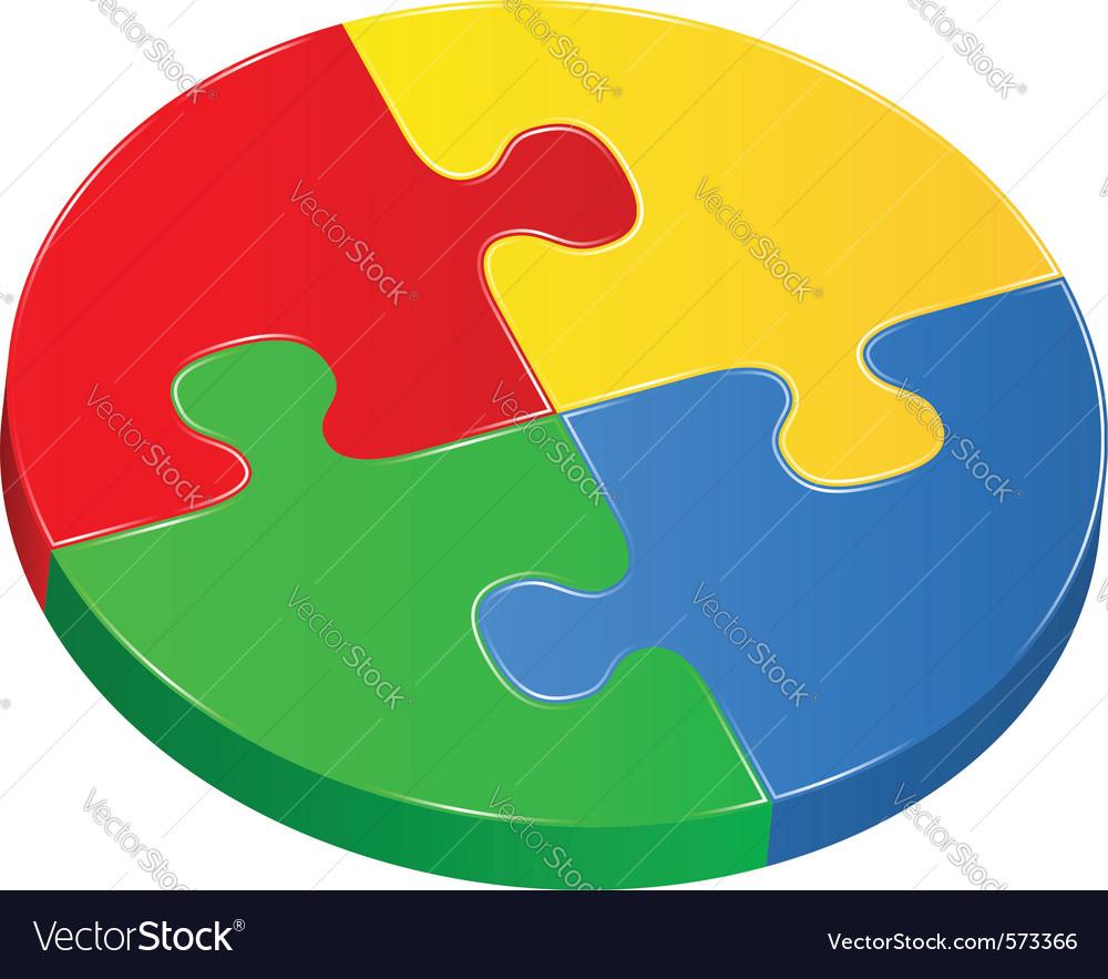 Puzzle circle vector   Price: 1 Credit (USD $1)