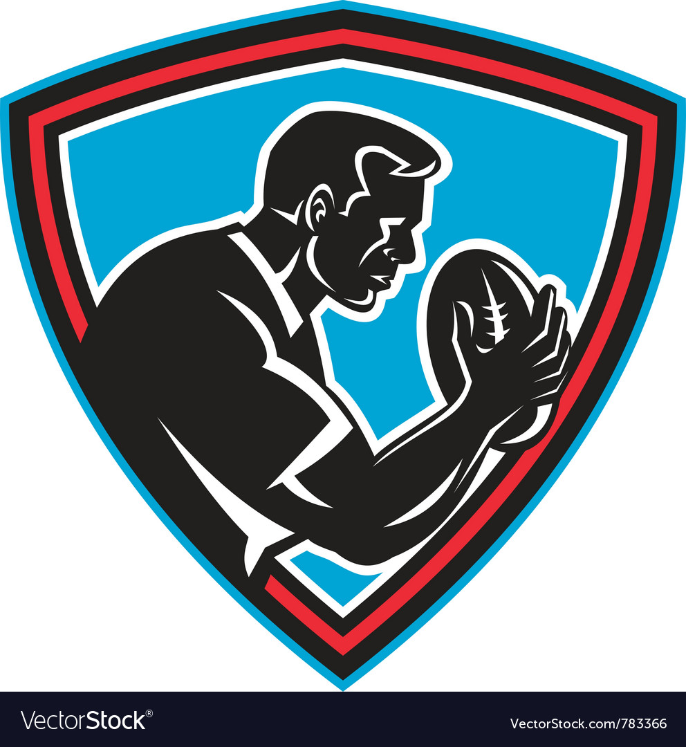 Retro rugby shield vector | Price: 1 Credit (USD $1)