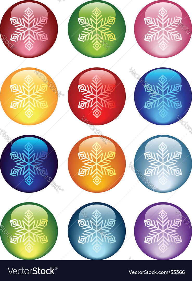 Snowflakes icon vector | Price: 1 Credit (USD $1)