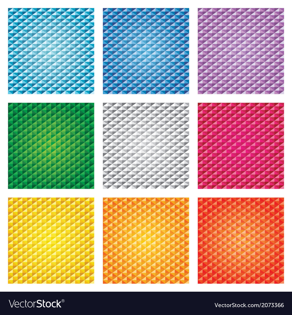 Triangle pattern set vector | Price: 1 Credit (USD $1)