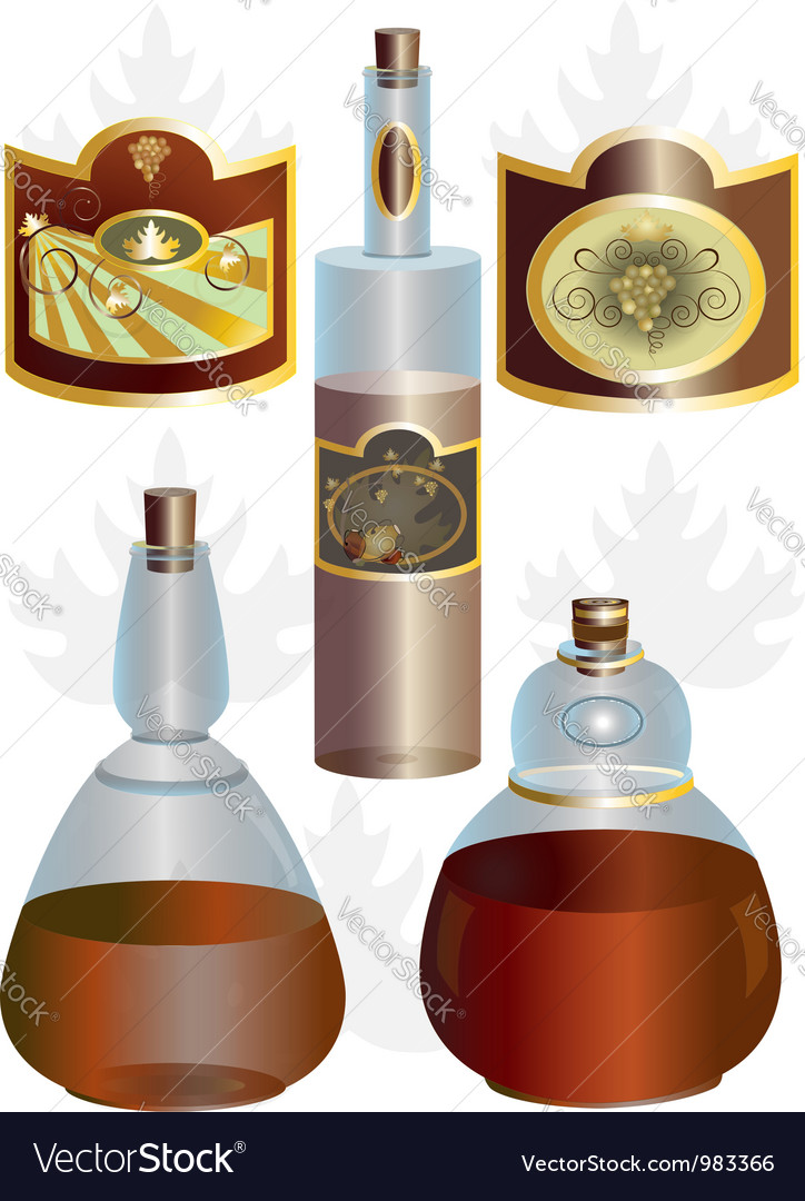 Unusual shape of bottles vector | Price: 1 Credit (USD $1)