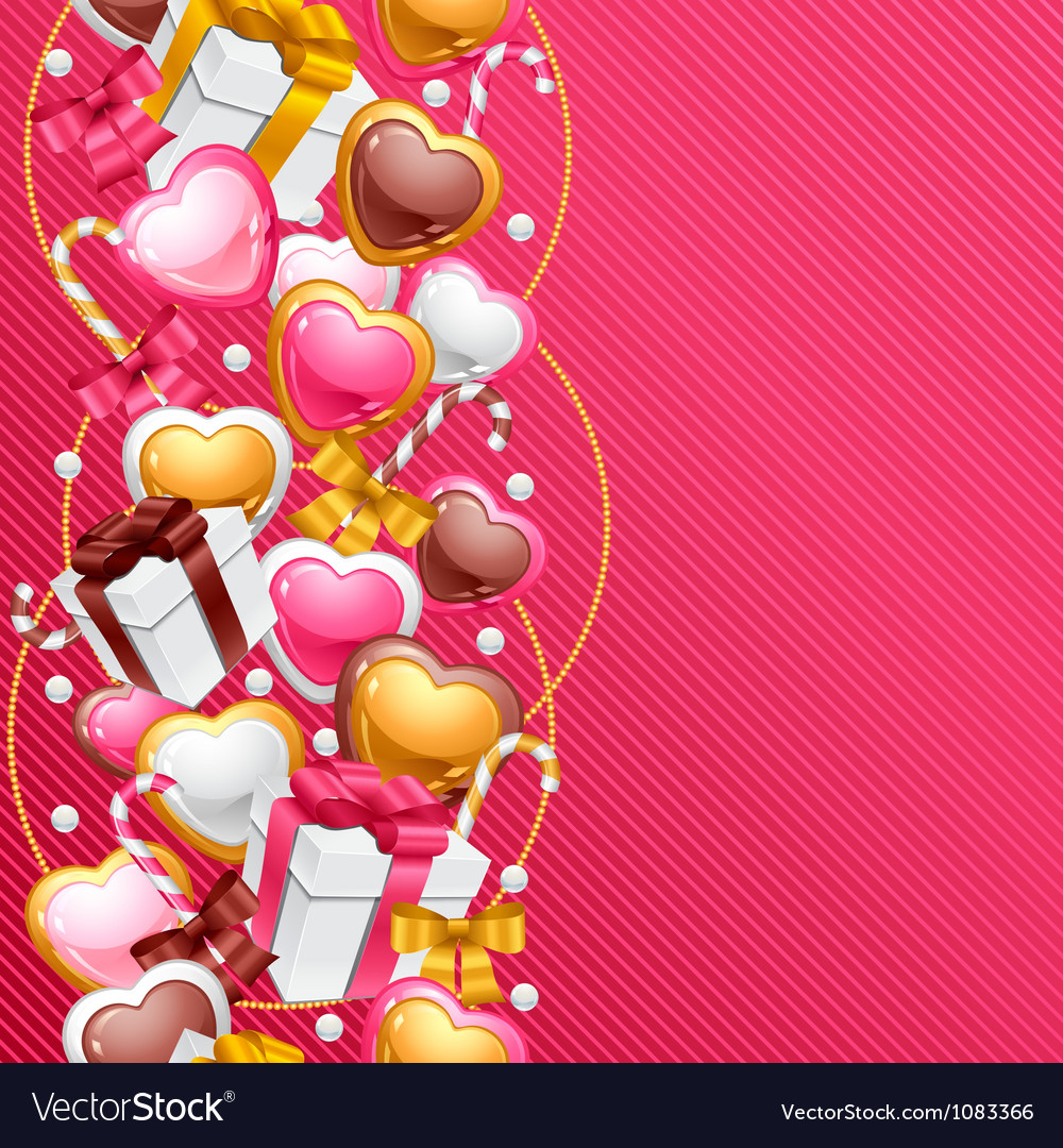 Valentines day background gift card and flyer vector   Price: 1 Credit (USD $1)
