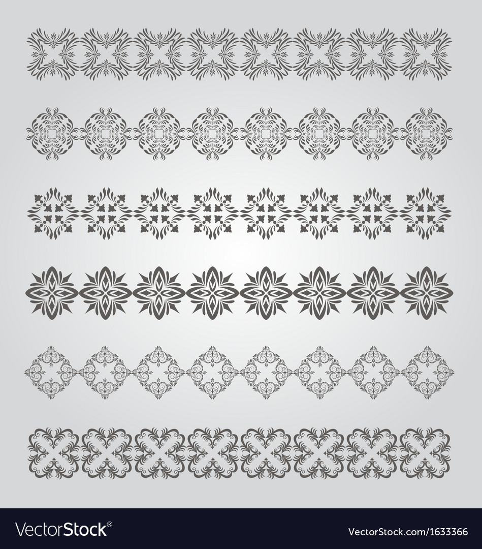Vintage border design vector | Price: 1 Credit (USD $1)