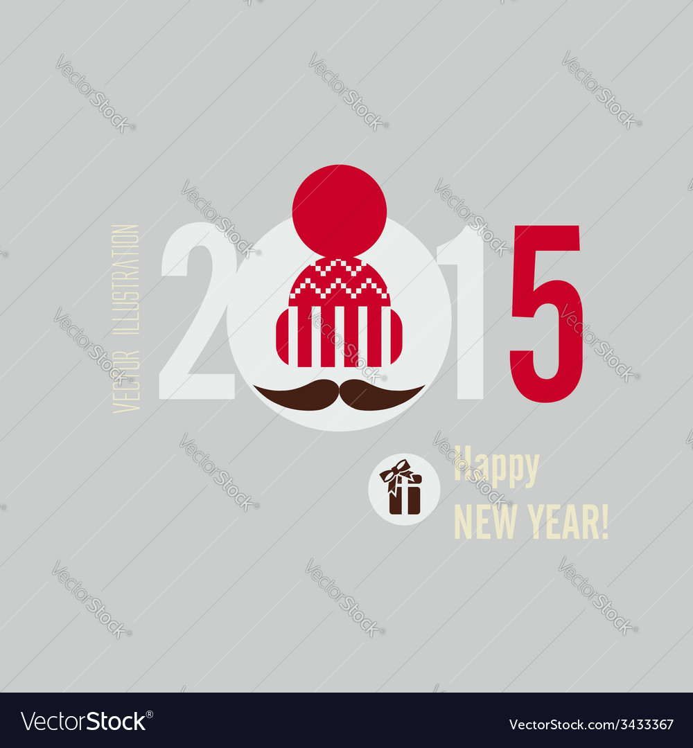 Flat design concepts for happy new year vector | Price: 1 Credit (USD $1)