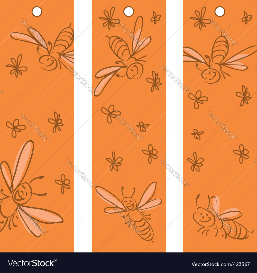 Funny bees vector | Price: 1 Credit (USD $1)