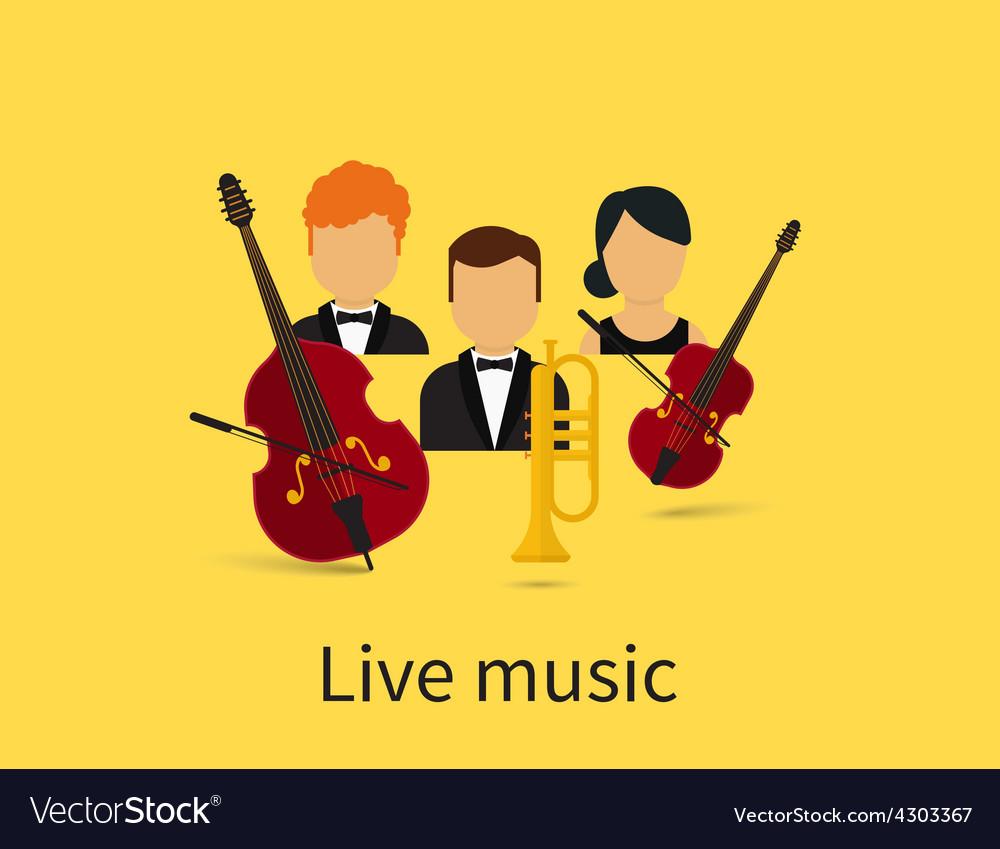 Live music vector | Price: 1 Credit (USD $1)