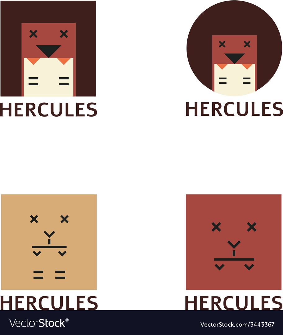 Minimalistic hercules head logotype vector | Price: 1 Credit (USD $1)