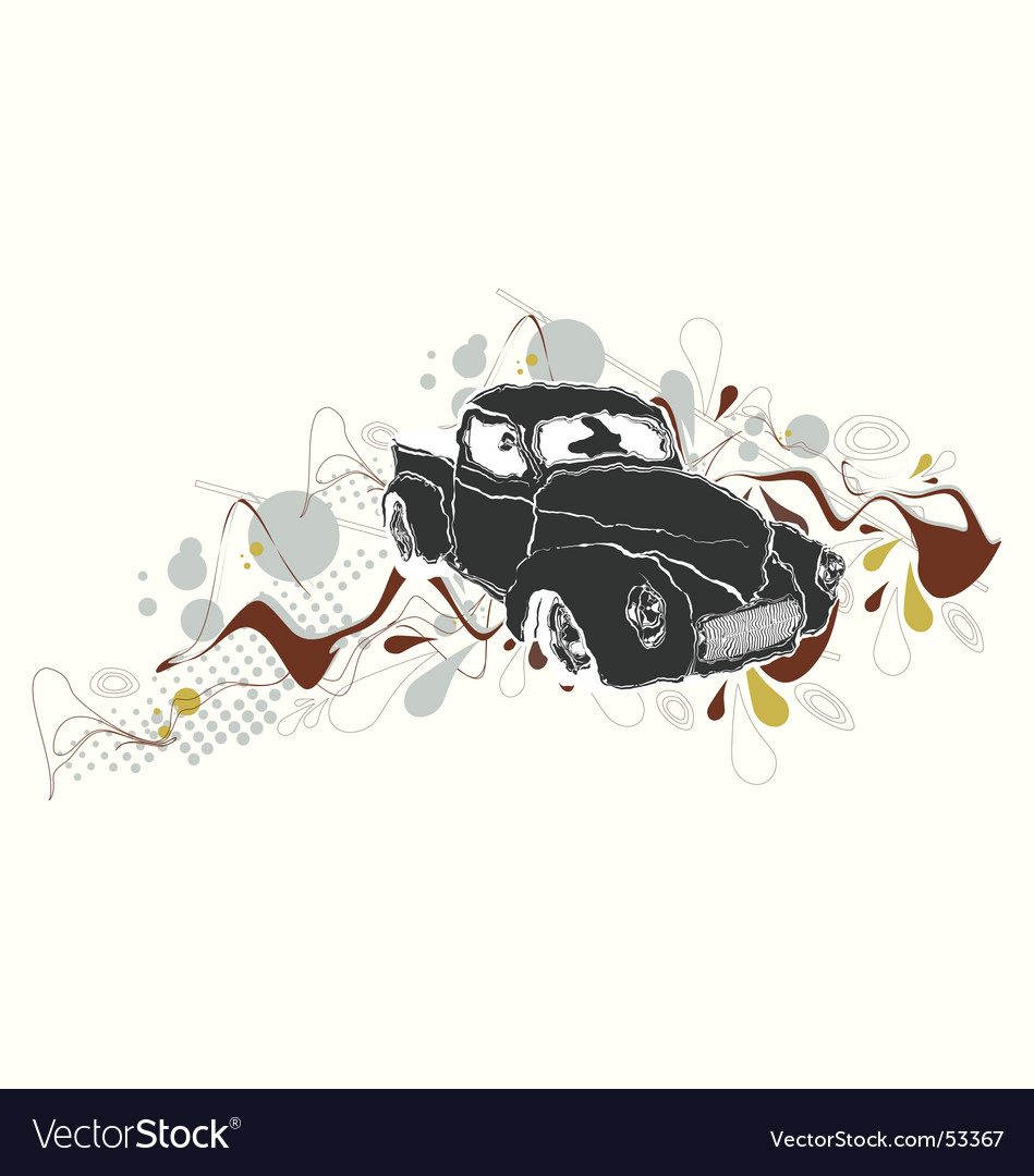 Retro cars vector | Price: 1 Credit (USD $1)