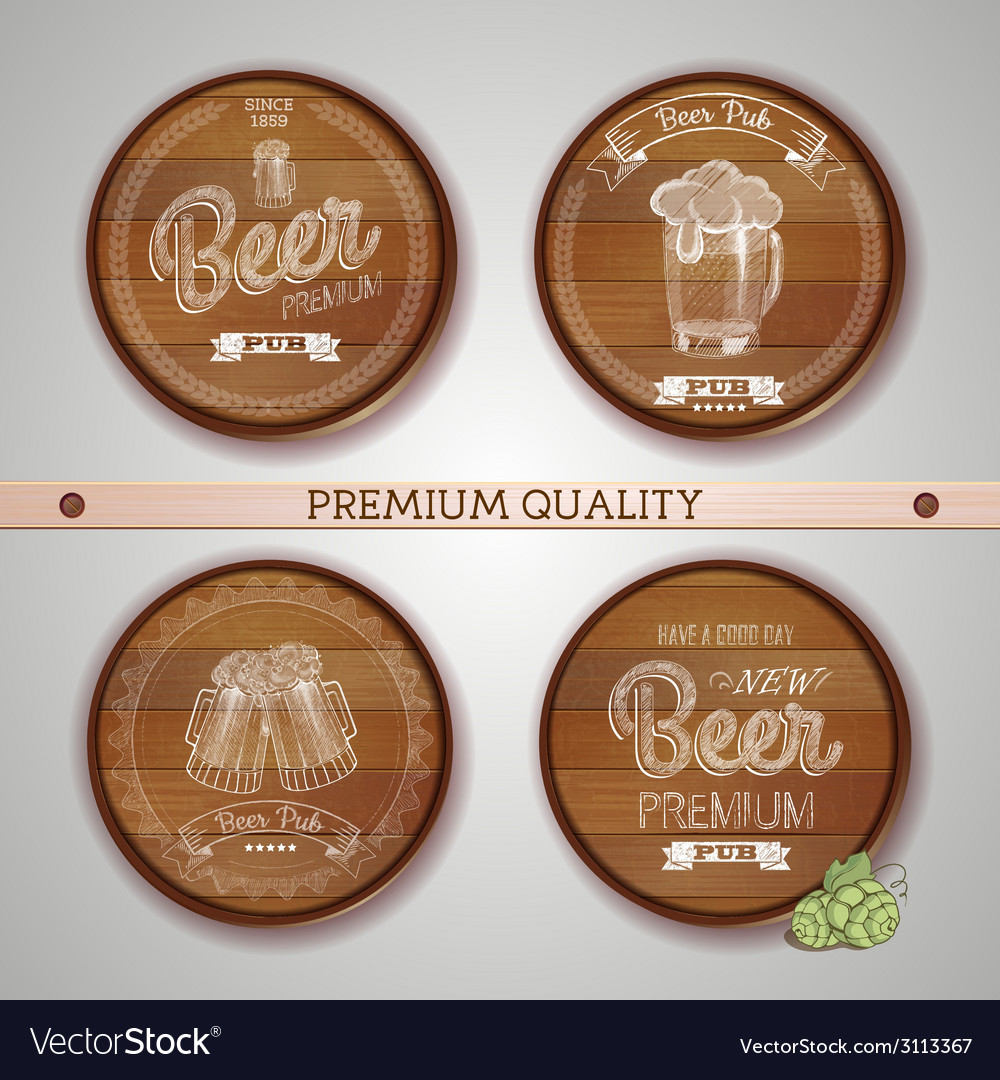Set of labels with beer vector | Price: 1 Credit (USD $1)