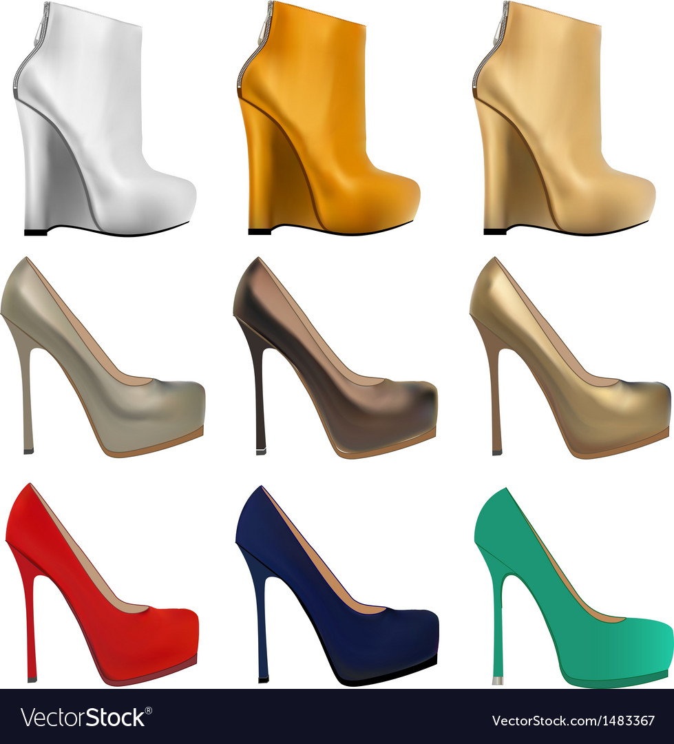 Set of womens shoes vector | Price: 1 Credit (USD $1)