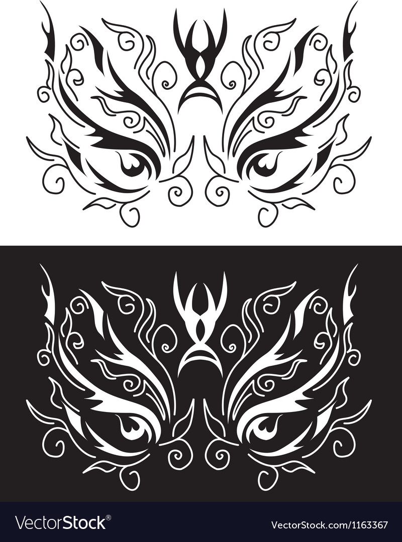 Tattoo mask vector | Price: 1 Credit (USD $1)