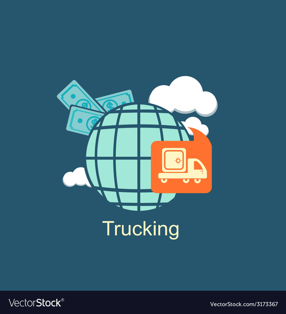 Trucking money icon vector | Price: 1 Credit (USD $1)