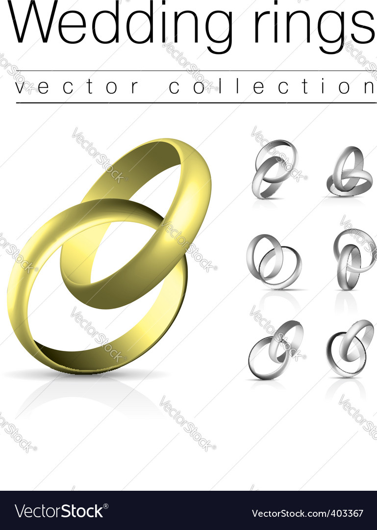 Wedding rings vector | Price: 3 Credit (USD $3)