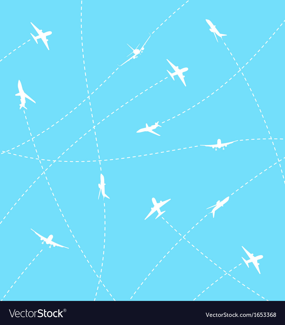 Abstract background with airplane lines vector | Price: 1 Credit (USD $1)