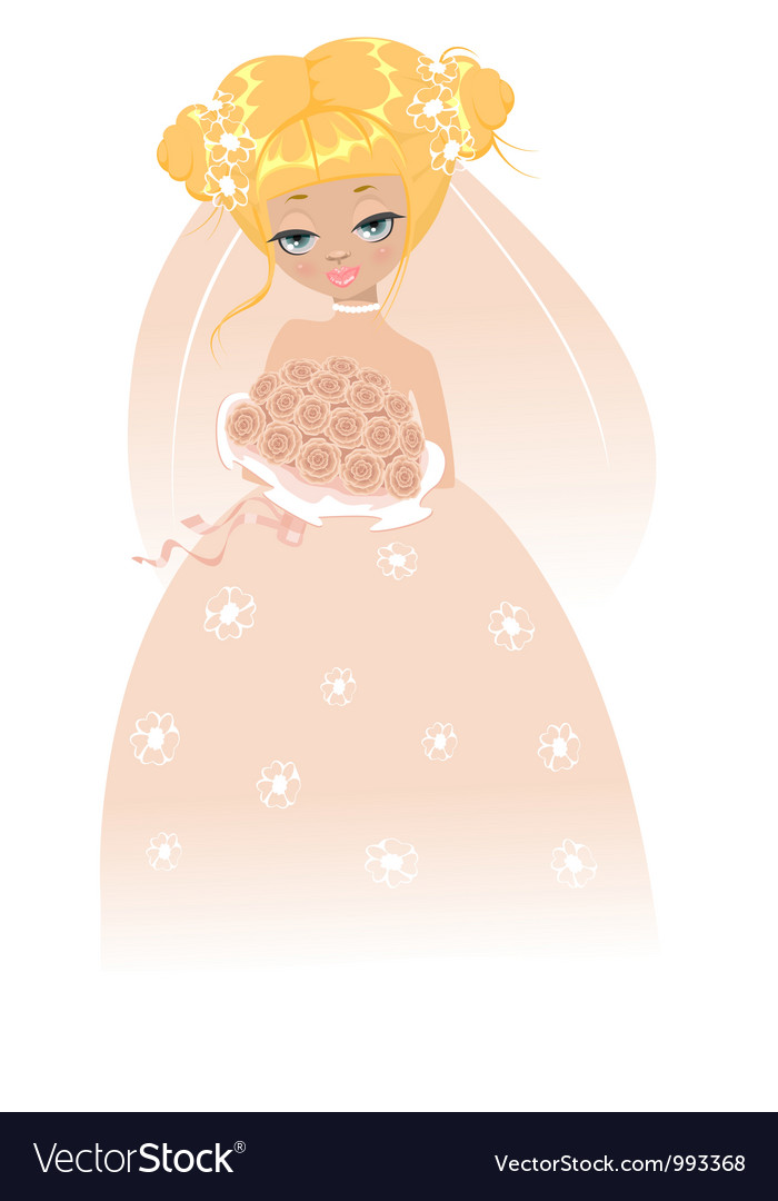 The beautiful bride vector | Price: 3 Credit (USD $3)