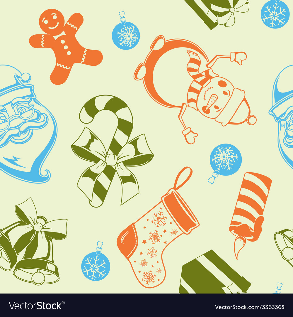 Christmas holiday seamless pattern vector | Price: 1 Credit (USD $1)