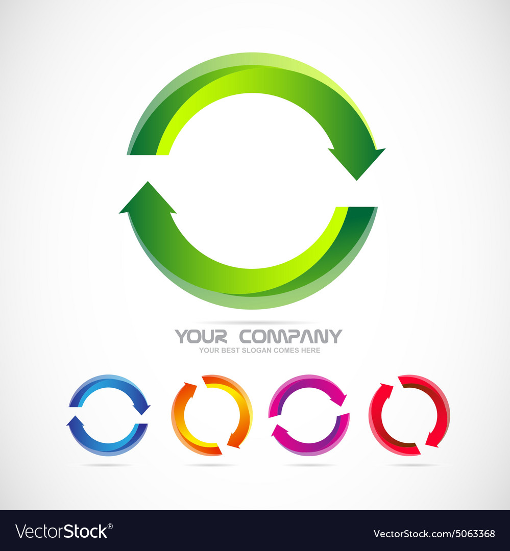 Circle arrow logo recycle vector