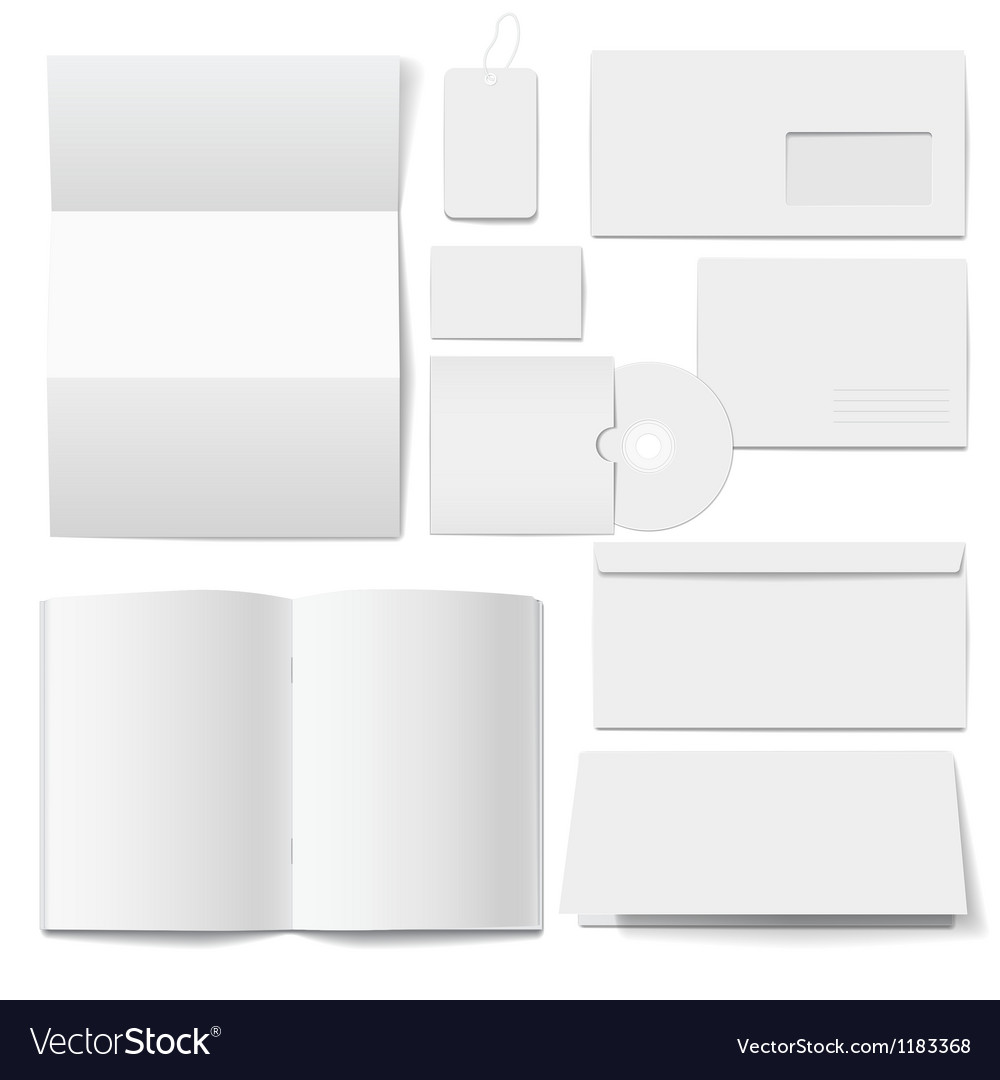 Corporate identity templates selected blank vector | Price: 1 Credit (USD $1)
