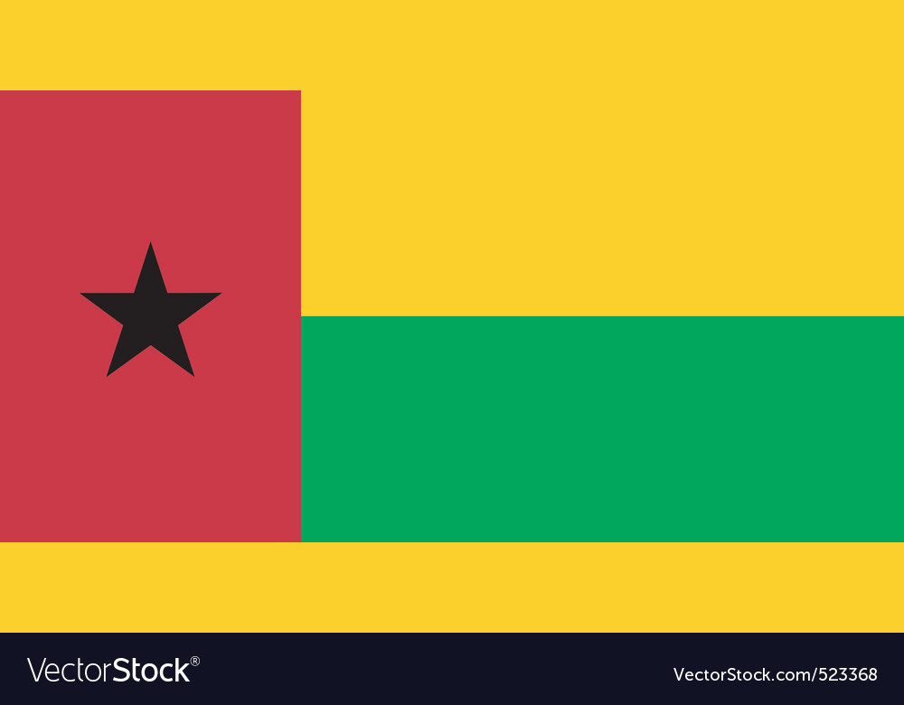 Guineabissau flag vector | Price: 1 Credit (USD $1)