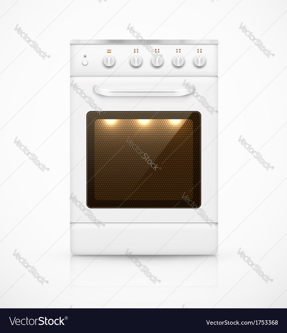 Isolated gas stove vector | Price: 1 Credit (USD $1)