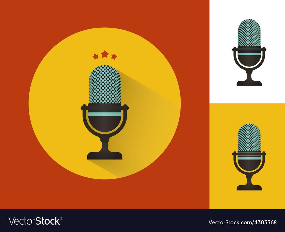 Karaoke microphones set vector | Price: 1 Credit (USD $1)