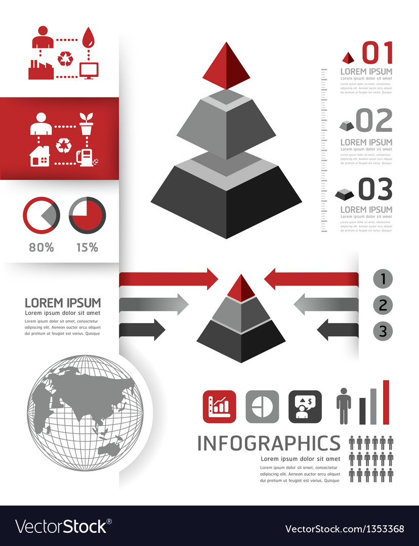 Modern design template can be used for infograph vector | Price: 3 Credit (USD $3)