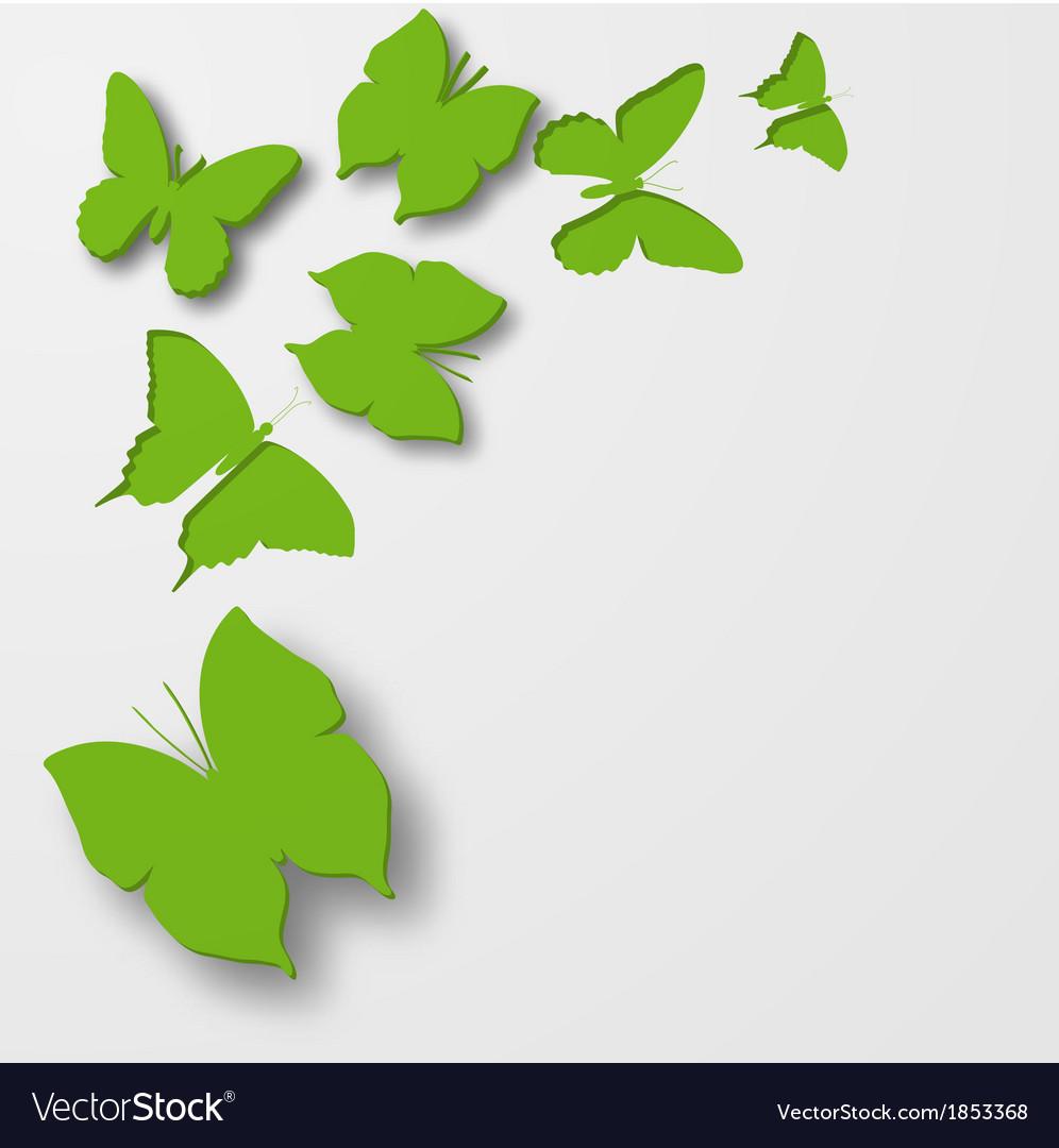 Paper butterflies vector | Price: 1 Credit (USD $1)
