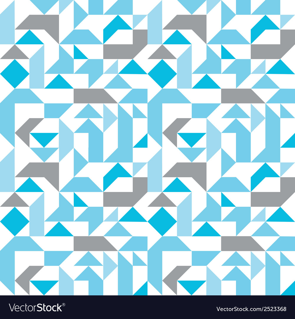 Pastel seamless pattern with geometric figures vector | Price: 1 Credit (USD $1)