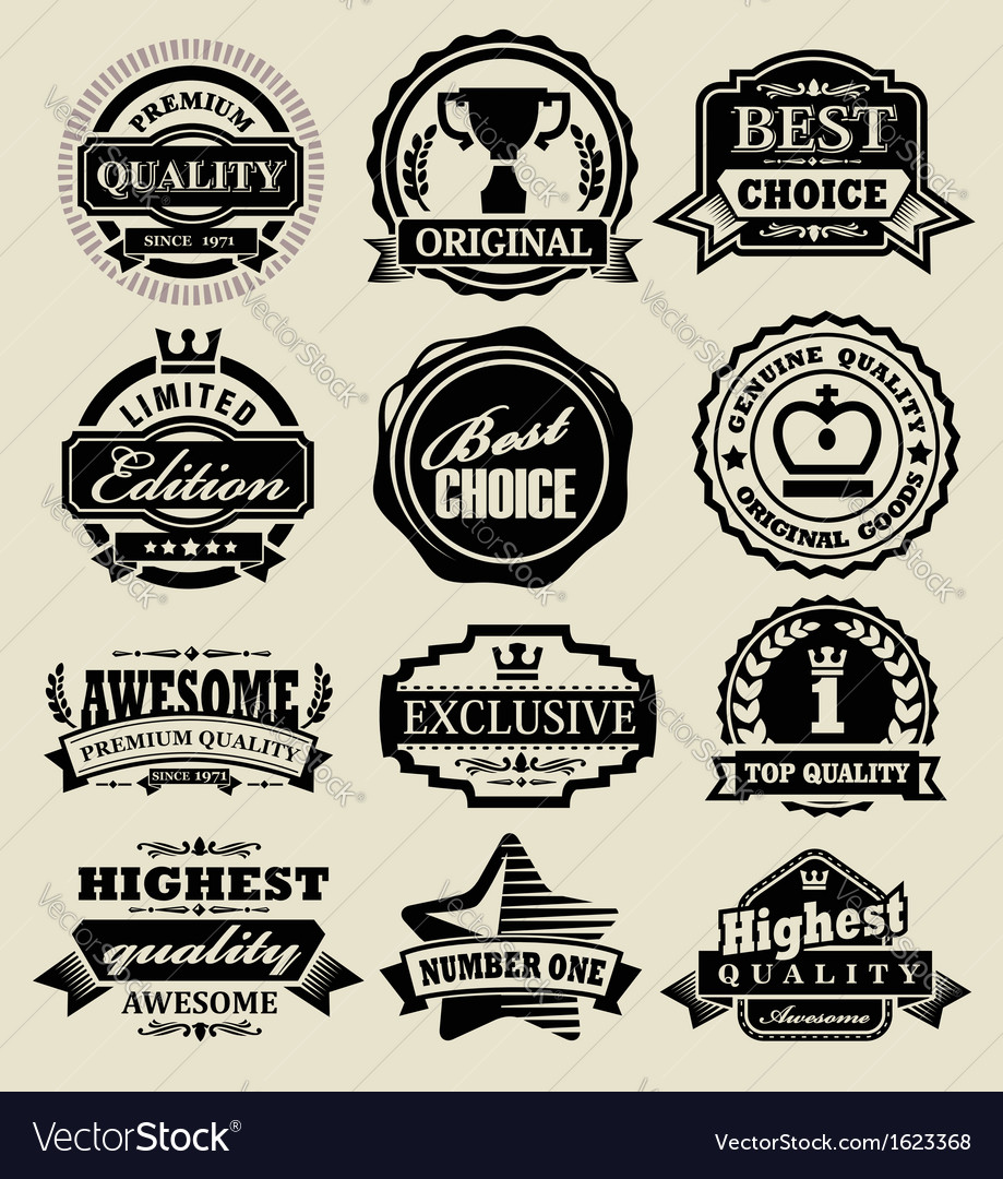 Premium quality badges vector | Price: 1 Credit (USD $1)