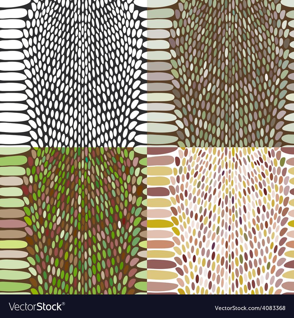 Snake skin texture set seamless pattern black on vector | Price: 1 Credit (USD $1)
