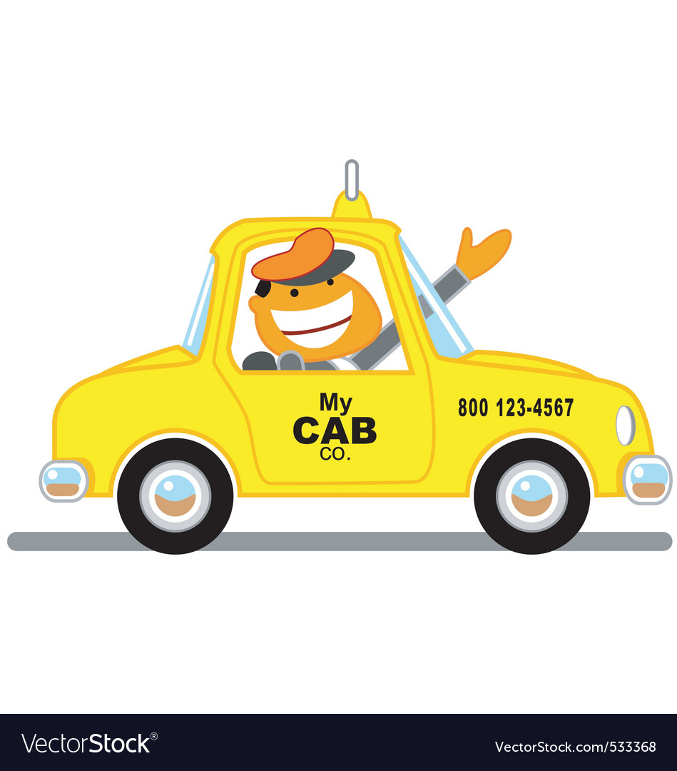 Taxicab driver vector | Price: 1 Credit (USD $1)
