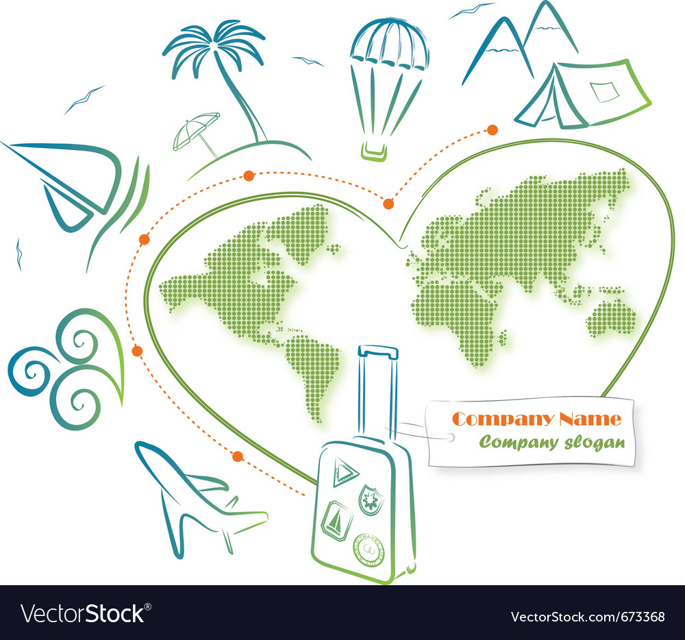 Travel around the world vector | Price: 1 Credit (USD $1)