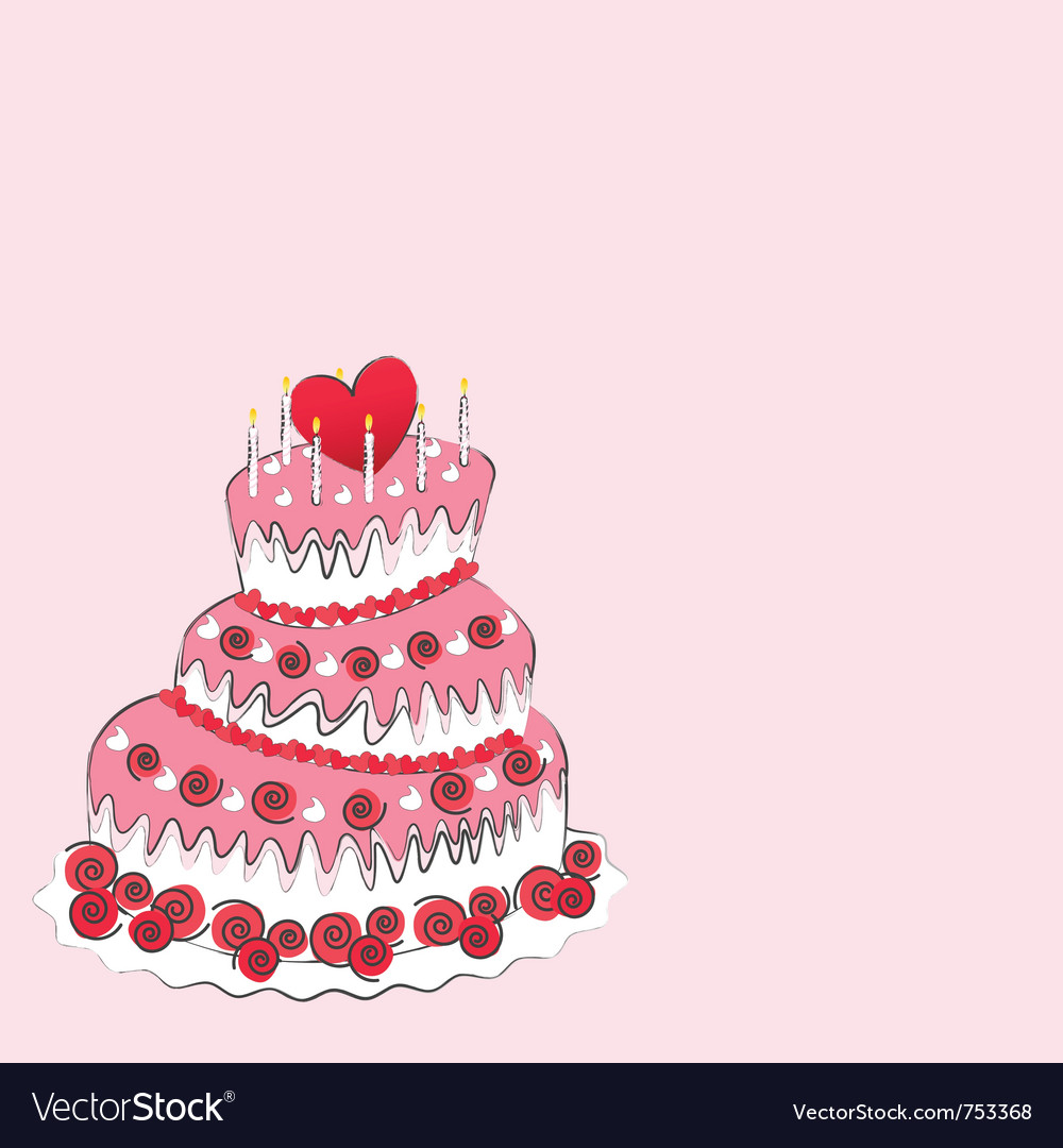 Wedding cake valentines day vector | Price: 1 Credit (USD $1)