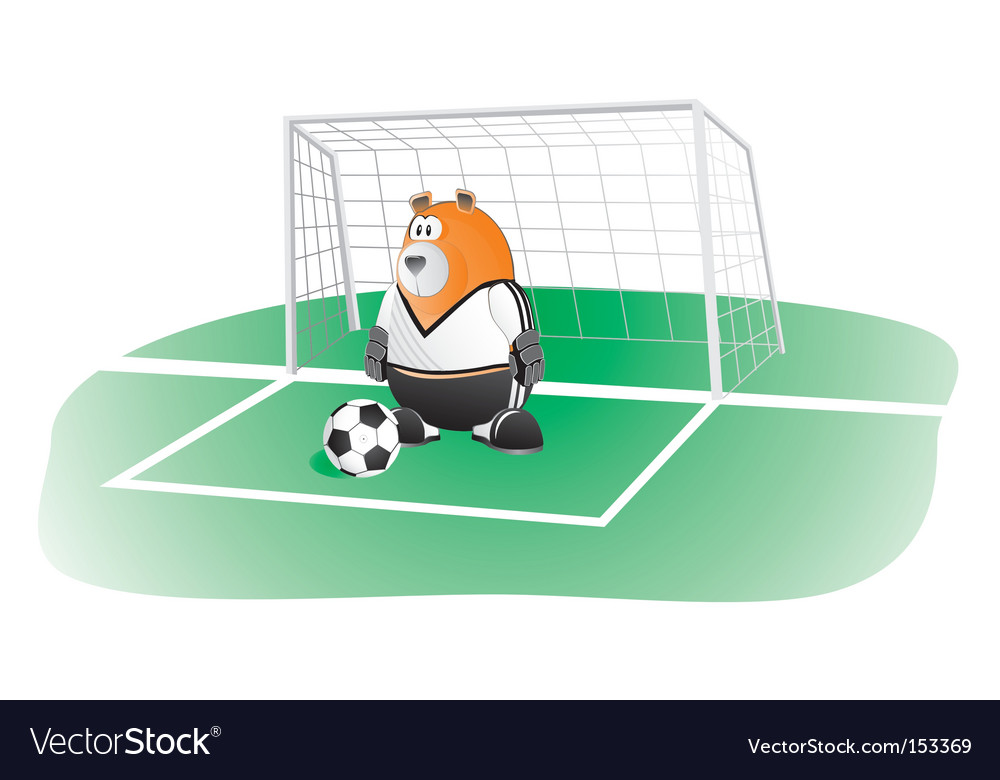 Bear soccer goalkeeper vector | Price: 1 Credit (USD $1)