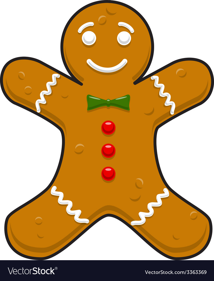 Christmas decorative gingerbread cookieman vector | Price: 1 Credit (USD $1)