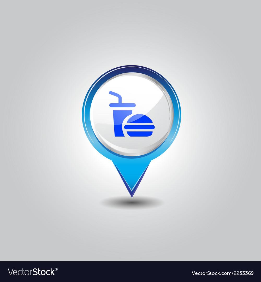 Junk food pins vector | Price: 1 Credit (USD $1)